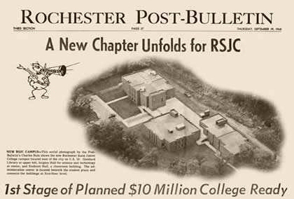 Newspaper ad in the Rochester Post-Bulletin for the 1st Stage of the $10 million College