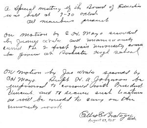 Letter from 1915