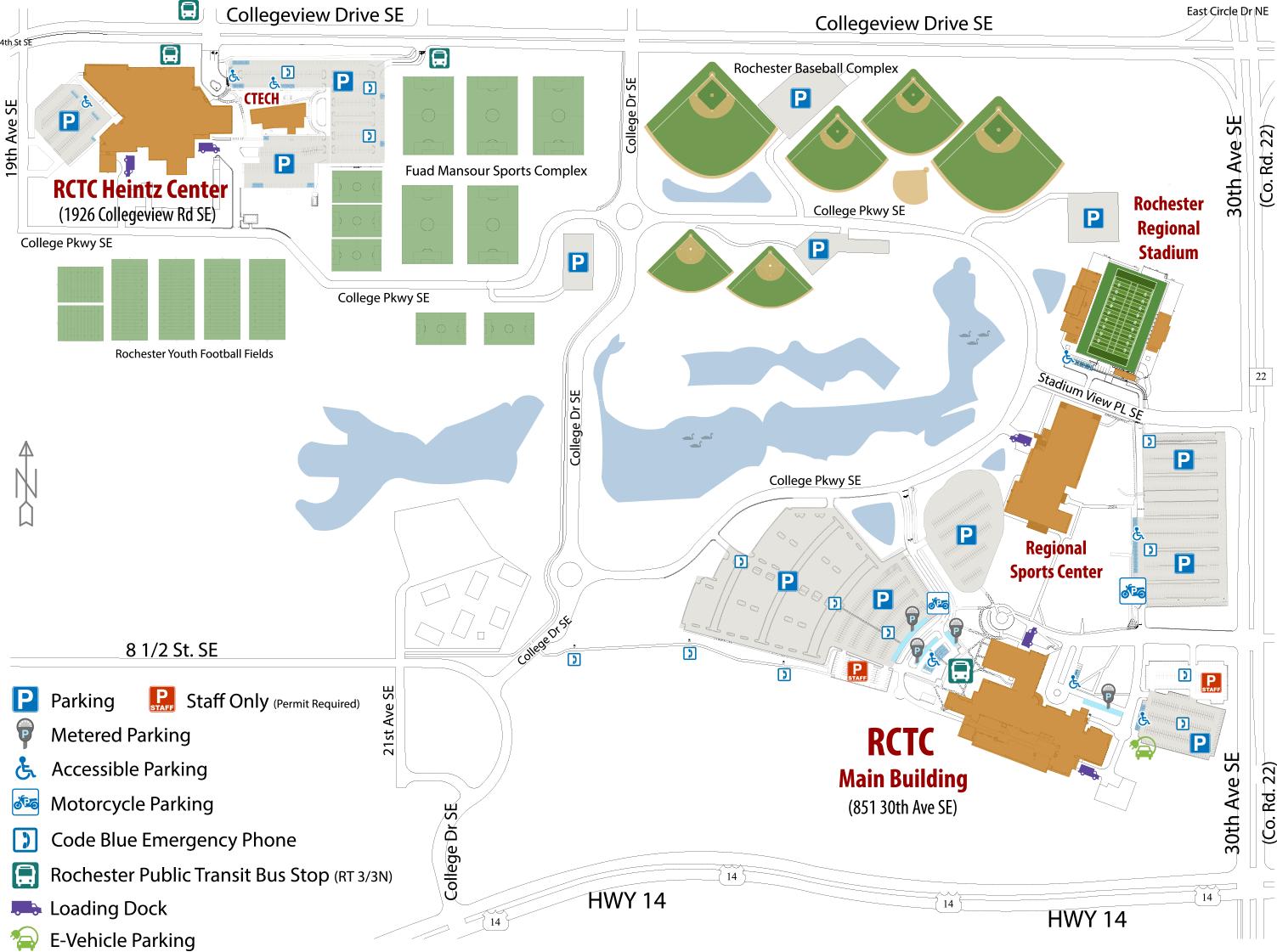 RCTC Campus Map